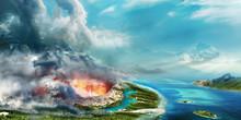 Vulcano Eruption On Hawai On B...