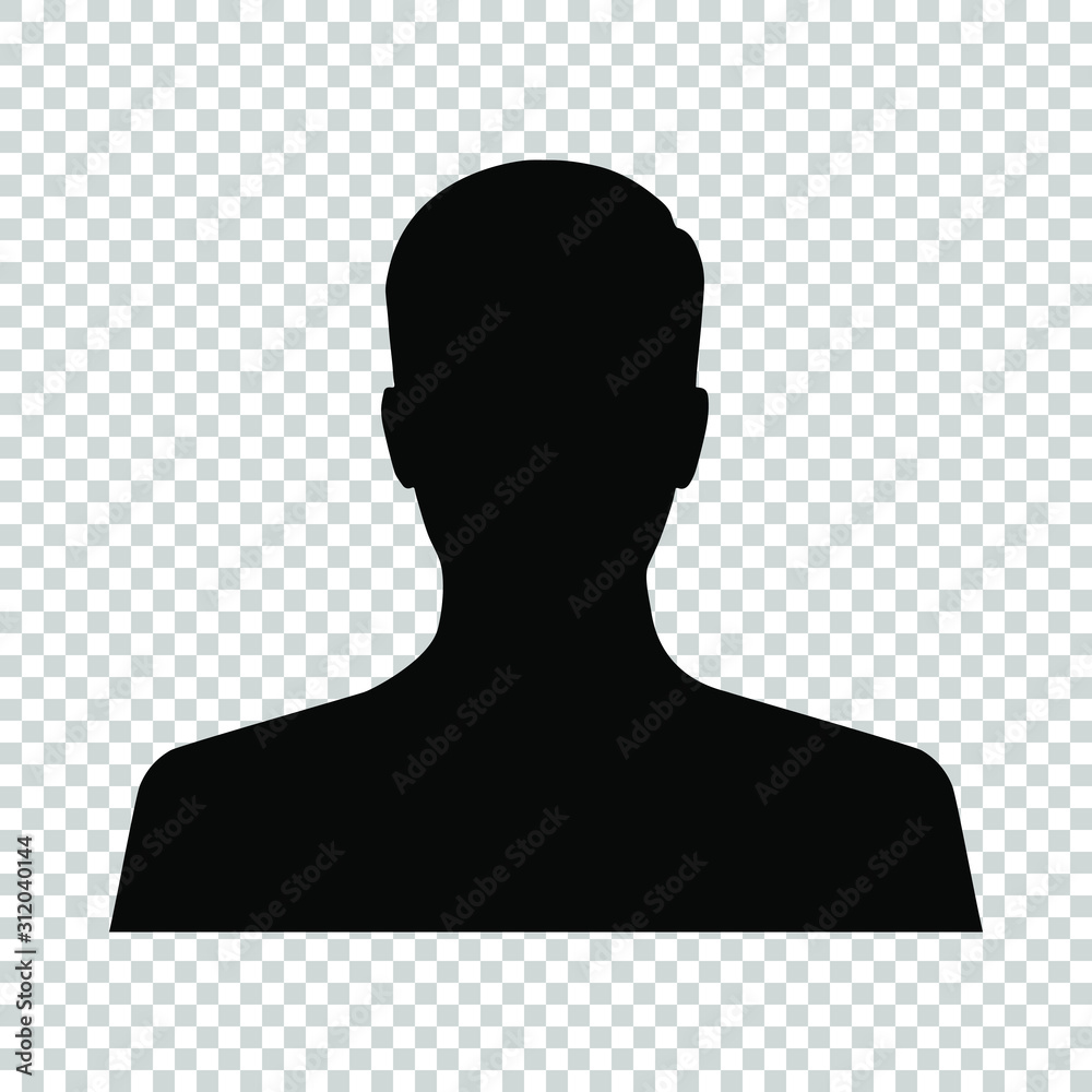 Fototapeta avatar profil picture icon isolated on transparent background