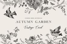 Autumn Garden. Vector Horizont...