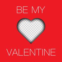 Be My Valentine Photo Frame Mo...
