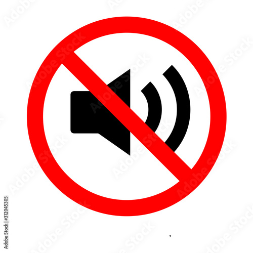 Fotomural  No loud allowed icon vector illustration