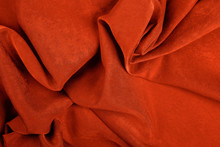 Orange Satin Background In The Color Of Year 2020