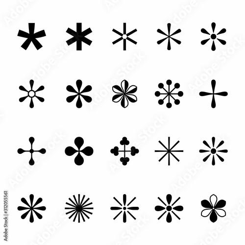 Set of asterisks Canvas Print