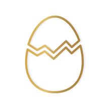 Golden Broken Egg Shell Icon- ...
