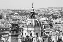 Paris City, France. Black-whit...