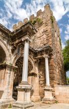 View Of Hadrian Gate In Antalya, Turkey