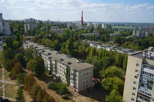 Aerial view of Belgorod city Canvas Print