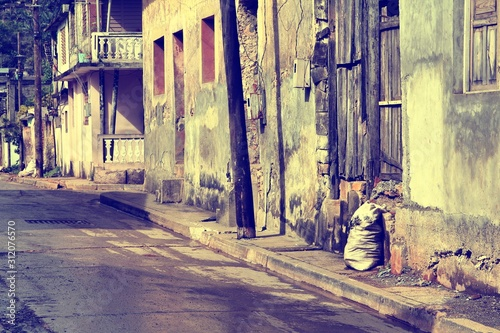 Poverty in Cuba. Vintage filtered colors. © Tupungato