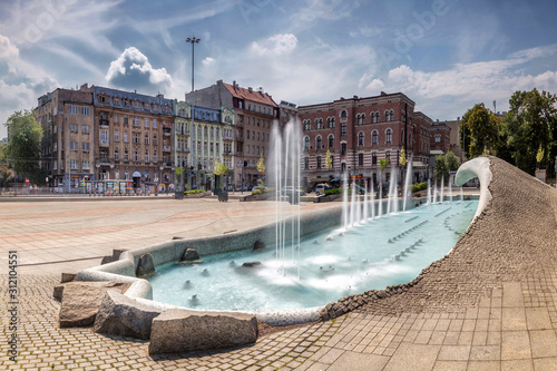 Obraz Plac Dąbrowskiego Łódź - fototapety do salonu