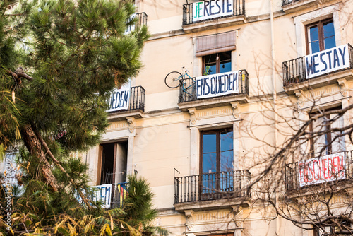 Photo Residential building is occupied by unauthorized squatters and transformed into illegal squat