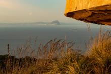 Gibraltar Rock Seen From Ceuta...
