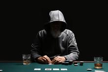Male Cardsharper Playing In Casino