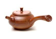 Teapot On A White Background