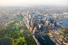 Sydney Harbour City Scape Central Business District From Air
