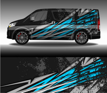 Car Wrap Decal Livery Design Vector, Rally Race Car Vehicle Sticker And Tinting.