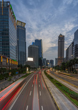 Rush Hour In The Capital Of Jakarta Indonesia