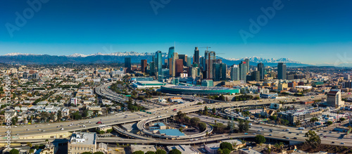 Fototapeta Los Angeles Panorama Skyline view obraz