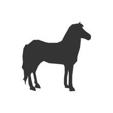 Horse Animal Icon Vector Illus...