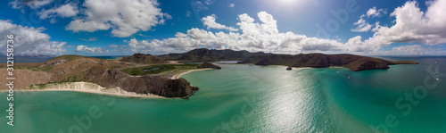 amazing aerial view of the bay of Balandra in Baja California Sur, Mexico Wallpaper Mural