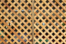 Wooden Grid, The Background Of...