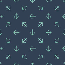 Anchor Seamless Pattern Boys Print Clothing Sea Repeat Background Men Simple Wallpaper For Textile Fabric