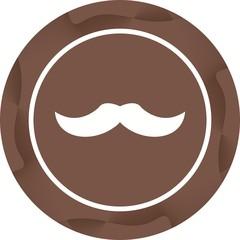Unique Moustache Vector Glyph Icon