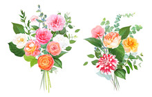 Floral Vector Design Bouquets