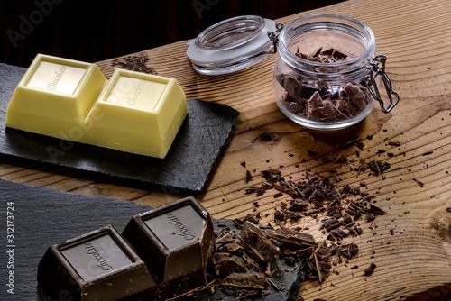 Cioccolato a blocco bianco e fondente Canvas Print