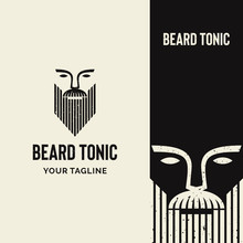 Strong Rustic Beard Logo With ...