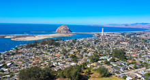 Aerial View, Morro Rock Is A L...