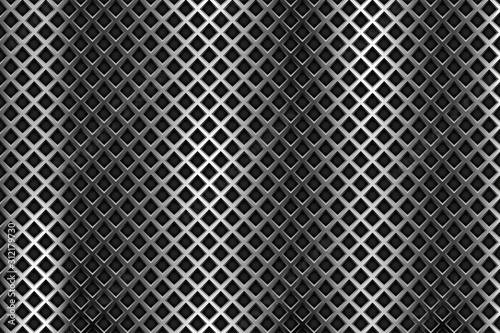 Obraz na plátne  Metal steel perforated background