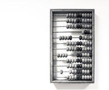 Wooden Abacus Hang On The Wall