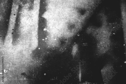 Obraz Photo of scratched surface texture black and white colors - fototapety do salonu