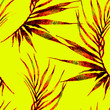 canvas print picture - Tropical seamless pattern. Watercolor curved palm