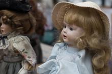 Closeup Of Vintage Dolls At Fl...