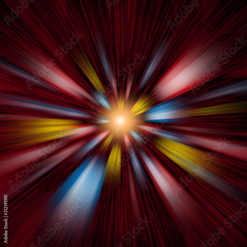 Photo Blurs of Acceleration in Abstract Conceptual Space