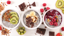 Chia Pudding With Fruit And Cereal