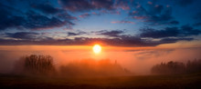 Sunrise Sunset From Mountain Kozakov In Inversion