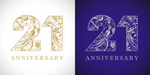 21 Years Old Logotype. 21 St A...