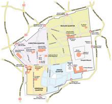 Map Of The Old City Of Jerusalem