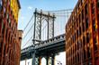 Photography spots in Dumbo with a view of Manhattan bridge , New york city