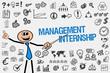 Leinwanddruck Bild Management Internship
