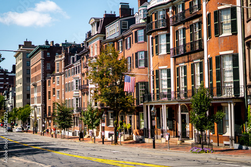 Fotografie, Obraz The classical and victorian buildings in the heart of Boston , Massachusetts , U