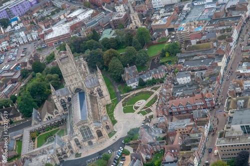 Fotografija Aerial view of Gloucester Cathedral, Gloucester, UK