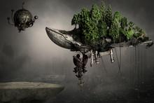 Steampunk Robot Macchina Vola...