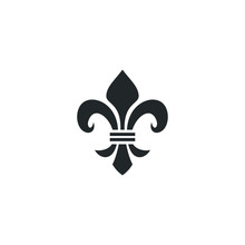 Fleur De Lis Heraldic Icon Template Color Editable. Fleur De Lis Heraldic Symbol Vector Sign Isolated On White Background Illustration For Graphic And Web Design.