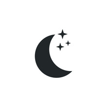 Moon Icon Template Color Edita...