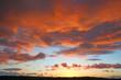 canvas print picture - Sunset in North Devon