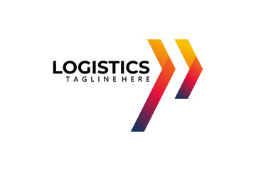 logistic logo icon vector isolated