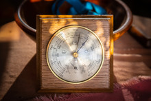 Old Barometer On Table